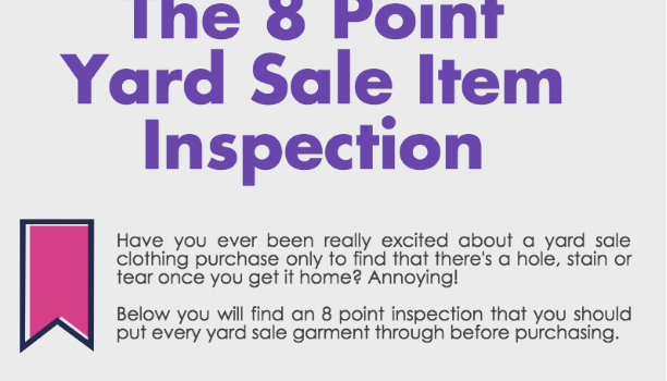 The 8 Point Inspection You Must Give Every Yard Sale Clothing Purchase