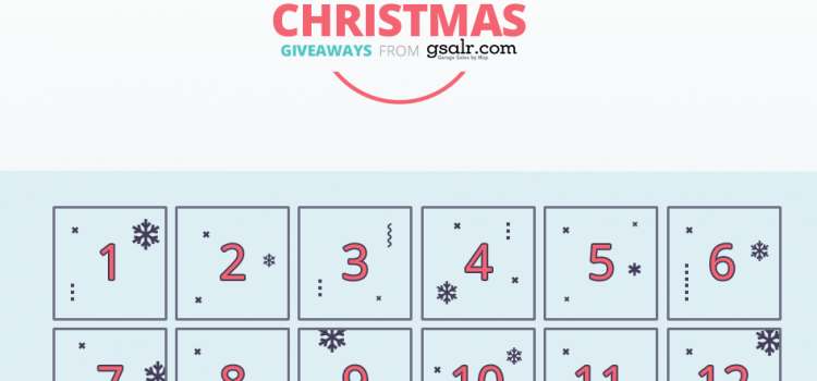 Introducing the 12 Days of Giveaway from Gsalr.com