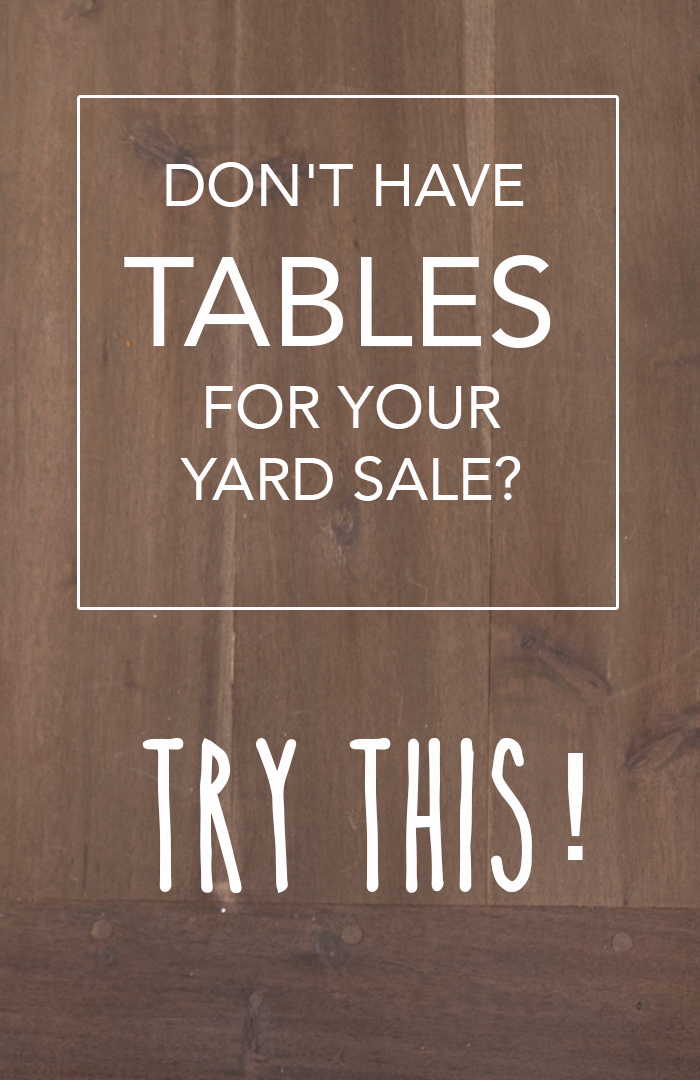 clothes rack ideas for garage sale - 10 Ingenious Ways to have a Yard Sale without Tables