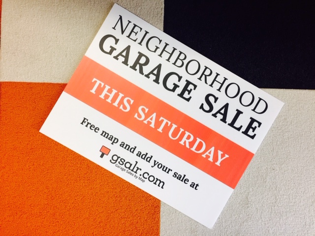 How to Promote a Garage Sale: Part 1 – Garage Sale Signs