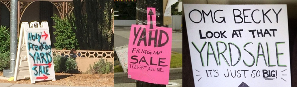15 More Funny Yard Sale Signs That Everyone Should Consider Using