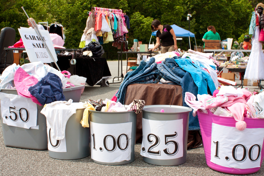 Clothing At A Yard Sale IStock 000020453776 Small