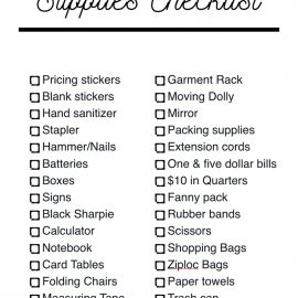 Printable Garage Sale Supplies Checklist [Free Download]