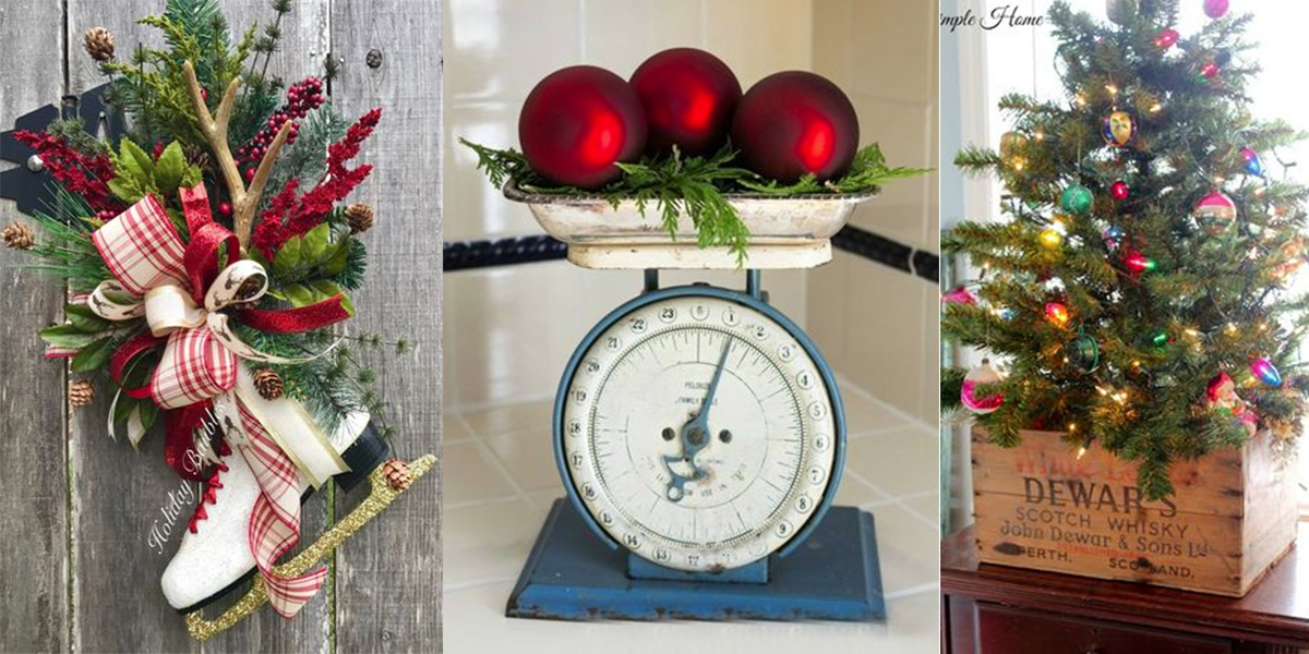 25 Ways To Decorate Your Home With Vintage Christmas Finds